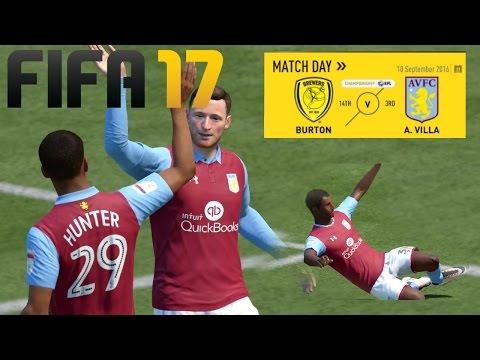 FIFA 17 BURTON VS ASTON VILLA - THE JOURNEY
