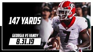 D'Andre Swift Full Highlights Georgia vs Vanderbilt | 147 Yards | 8.31.19