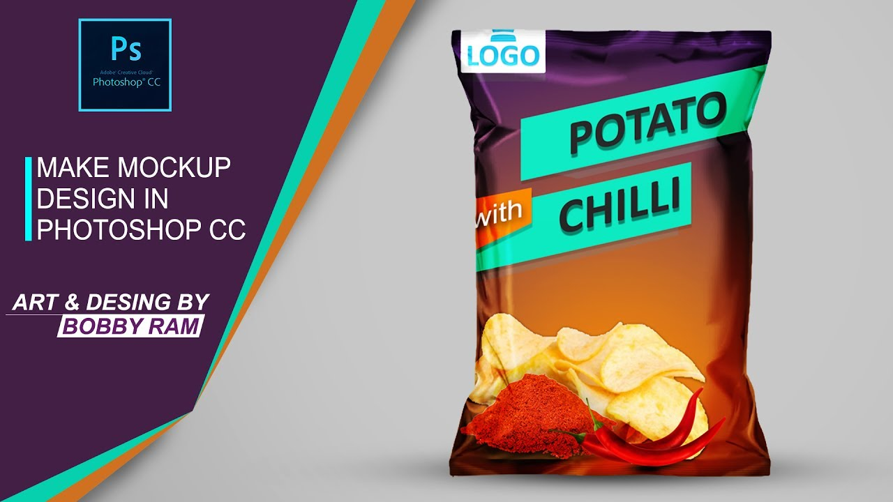 How To Make Realistic Chips Bag Mock Up In Photoshop Psd Link