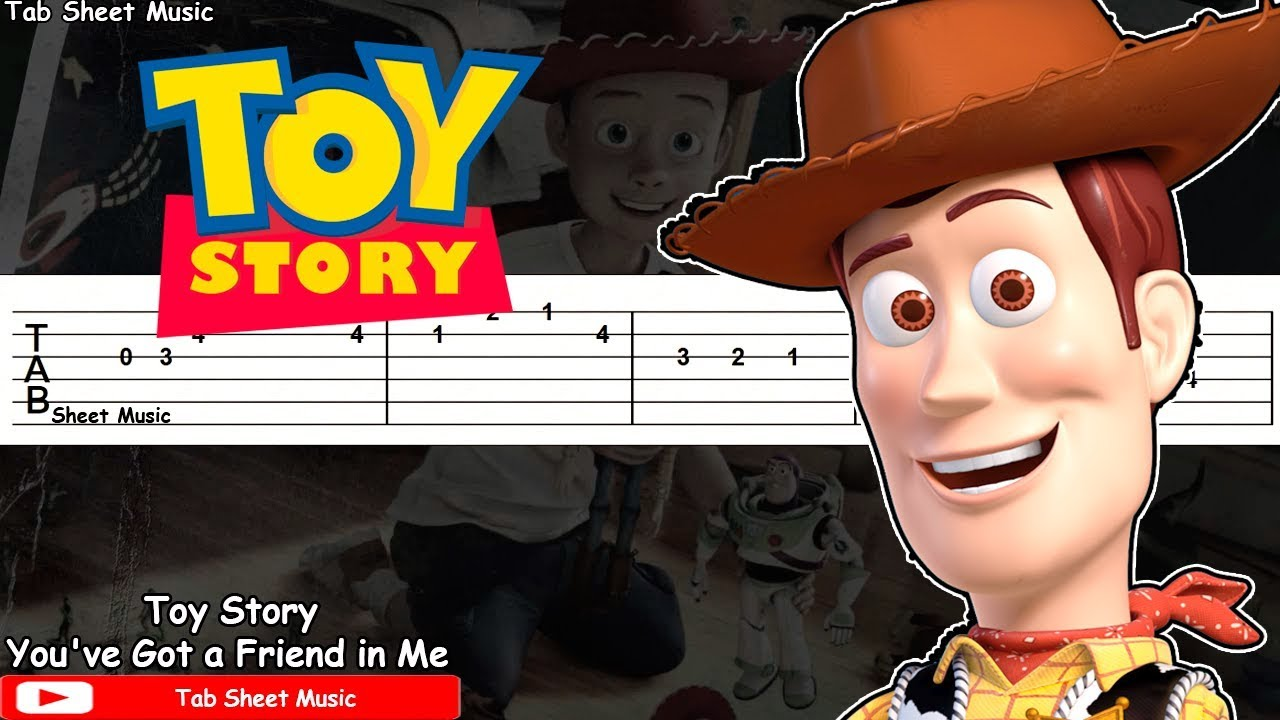 Toy Story Youve Got A Friend In Me Guitar Tutorial Youtube