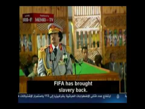 Qaddafi: FIFA is corrupt and involved in Human Trafficking