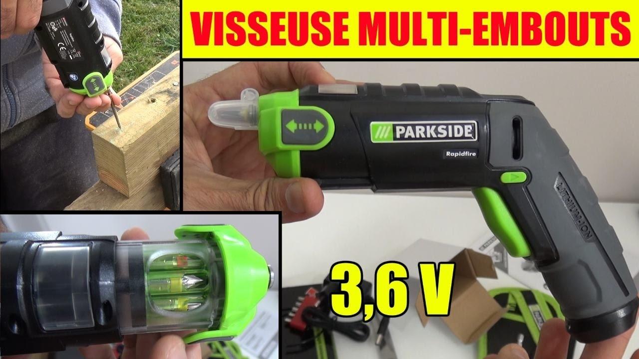 visseuse lidl parkside multi embouts rapidfire 3 6v cordless screwdriver akku wechselbitschrauber