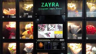 지하철 꽃 자판기