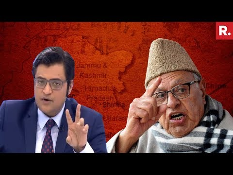 Farooq Abdullah Dreams Of 'Gifting PoK' To Pakistan | The Debate With Arnab Goswami