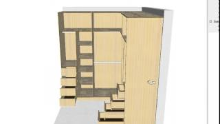 Gambar cover Crear y diseñar un vestier o armario en forma L