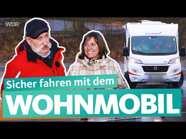 Fahrsicherheitstraining mit dem Wohnmobil – Wintercamping für Einsteiger (2/4) | WDR Reisen