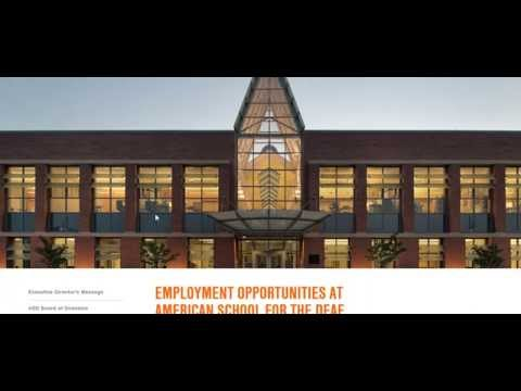 American School For The Deaf Jobs