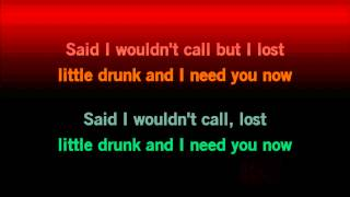 HD Lady Antebellum Need You Now Karaoke