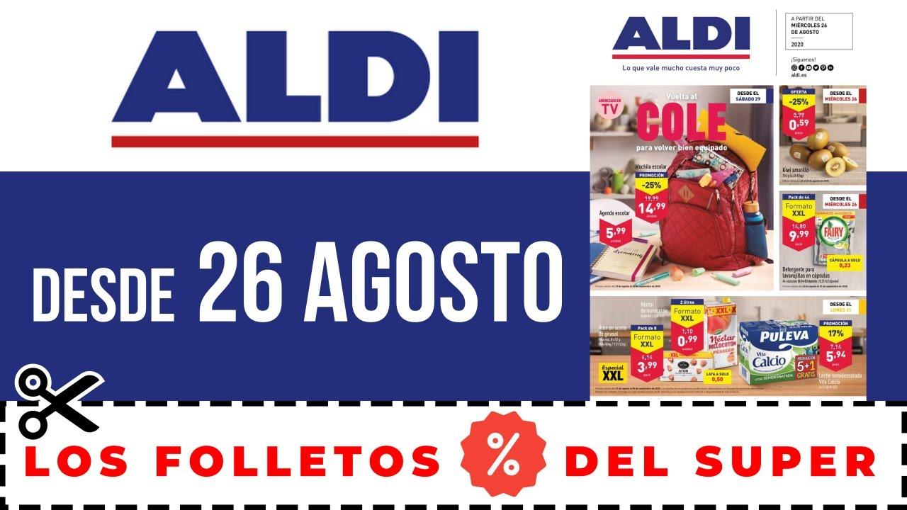 SUPERMERCADO ALDI FOLLETO DE OFERTAS ALDI desde el 26 de AGOSTO