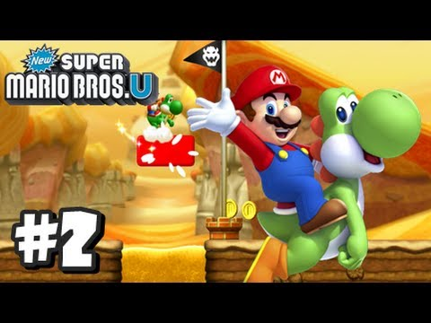New Super Mario Bros U Wii U - Part 2 World 2-1, 2-2, 2-3, 2-Tower