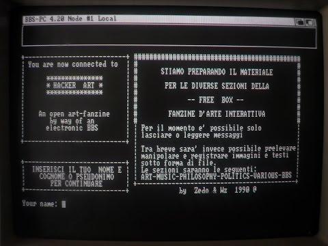 Hacker Art BBS, Tommaso Tozzi - 1990