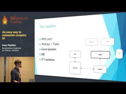 An easy way to automate complex UI (Ivan Pashko, Ukraine)