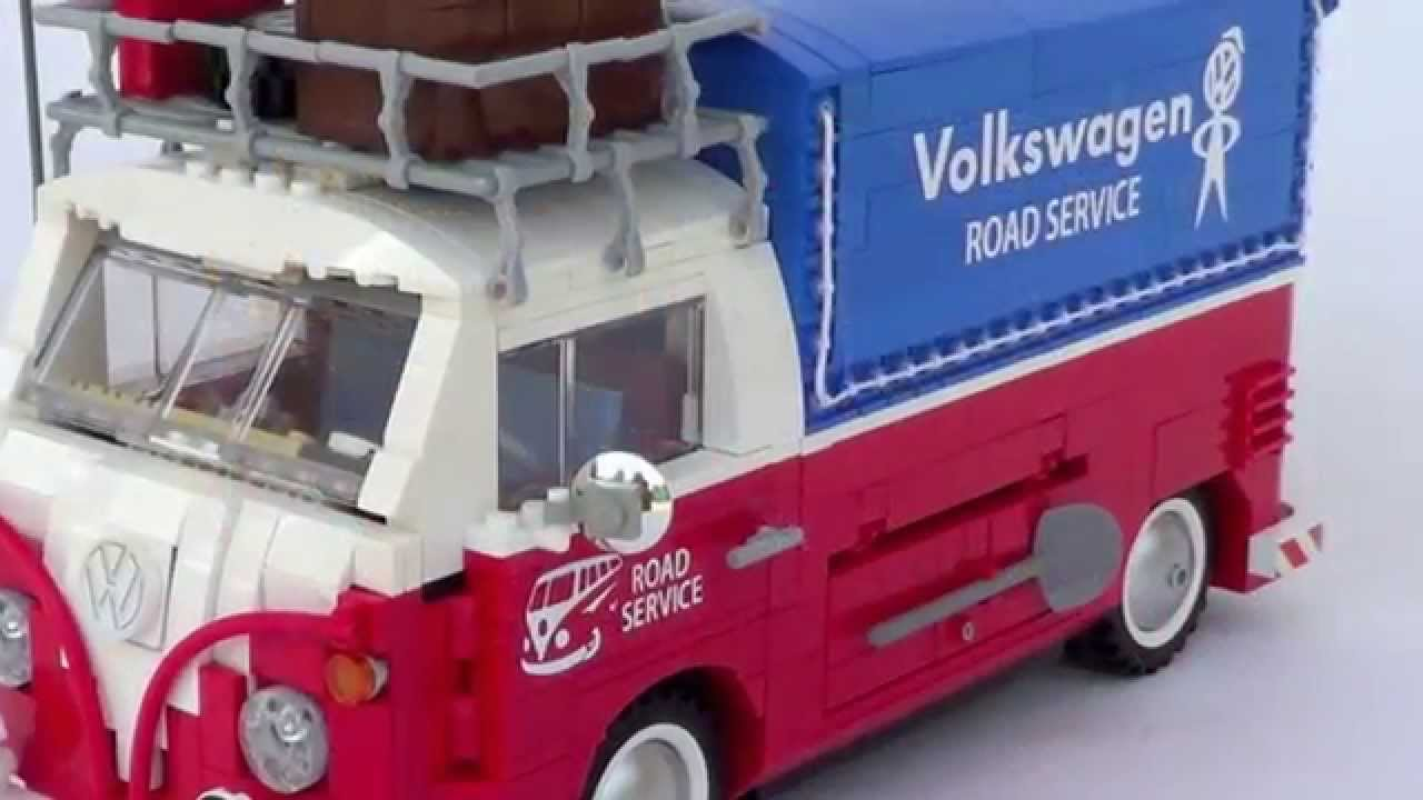 vw t1 road service pick up 100 lego youtube. Black Bedroom Furniture Sets. Home Design Ideas