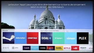 Comment installer des applications sur un Smart TV Samsung - Cobra.fr