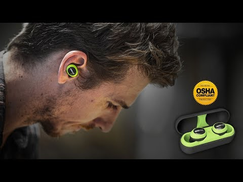 ISOtunes FREE Wireless Bluetooth Noise-Isolating OSHA-Approved Hearing Protection Earbuds