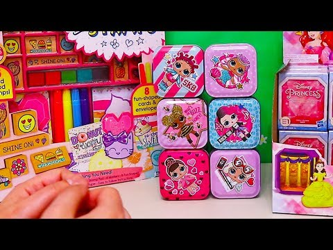 LOL Surprise Tins and Blind Bags ! Toys and Dolls Fun for Kids with Disney Princesses | SWTAD