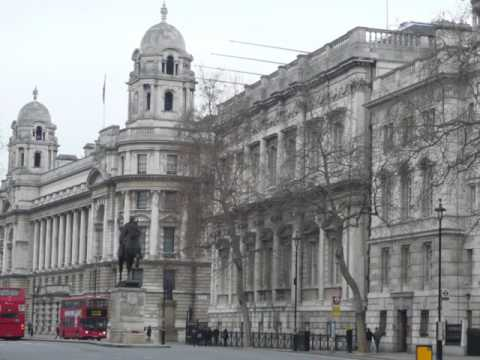Whitehall in London, Westminster, United Kingdom, Houses of Parliament Trafalgar Square,