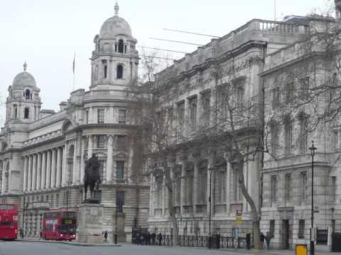 Whitehall in London, Westminster, United Kingdom, Houses of Parliament Trafalgar Square,