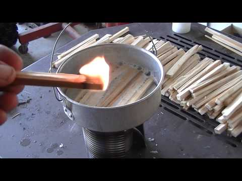 Making Wax Wood faux Fatwood