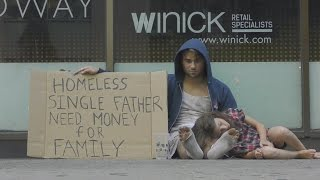 Homeless Drug Addict VS Homeless Father(Social Experiment)