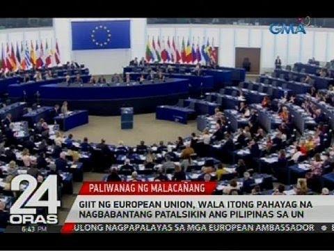 Giit ng European Union, wala itong pahayag na nagbabantang patalsikin ang Pilipinas sa UN