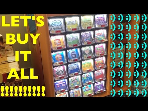 BUYING AND PLAYING ALL SCRATCHERS IN MACHINE FOR FUN!!