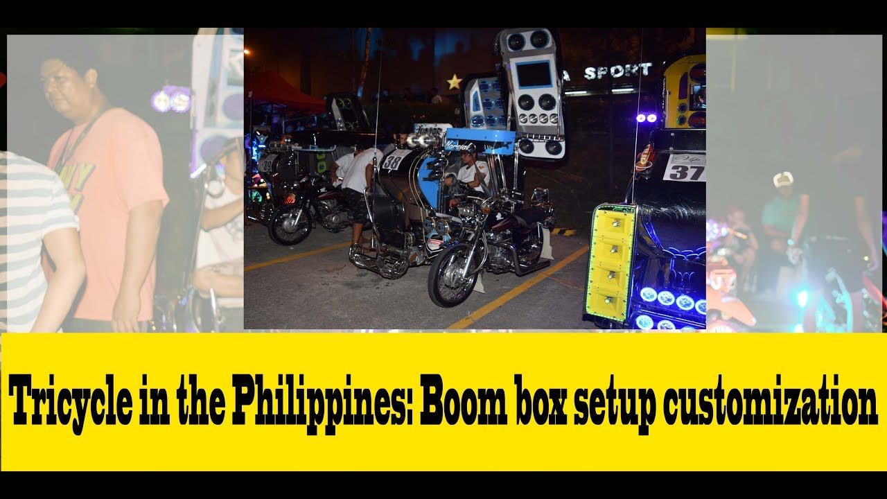 Tricycle in the Philippines: Boom-box setup customization