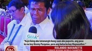 24 Oras: Pinoy champion boxers, hati ang opinyon sa Pacquiao-Mayweather fight