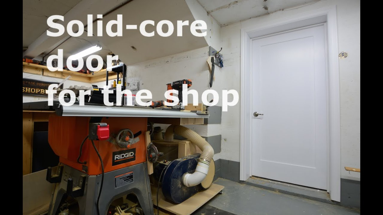 Shop built - DIY Solid core door & Shop built - DIY Solid core door - YouTube