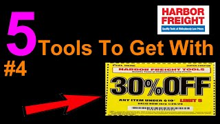 5 Tools Get With 30% OFF Coupon #4||Harbor Freight
