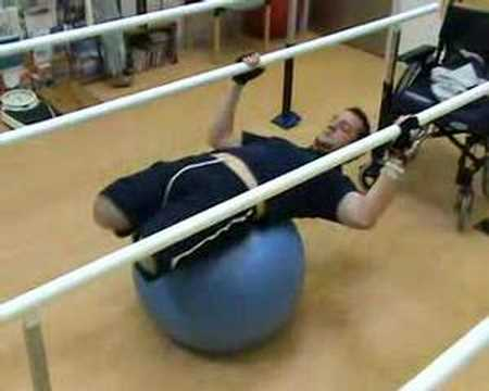 Stretching on the Gym Ball.