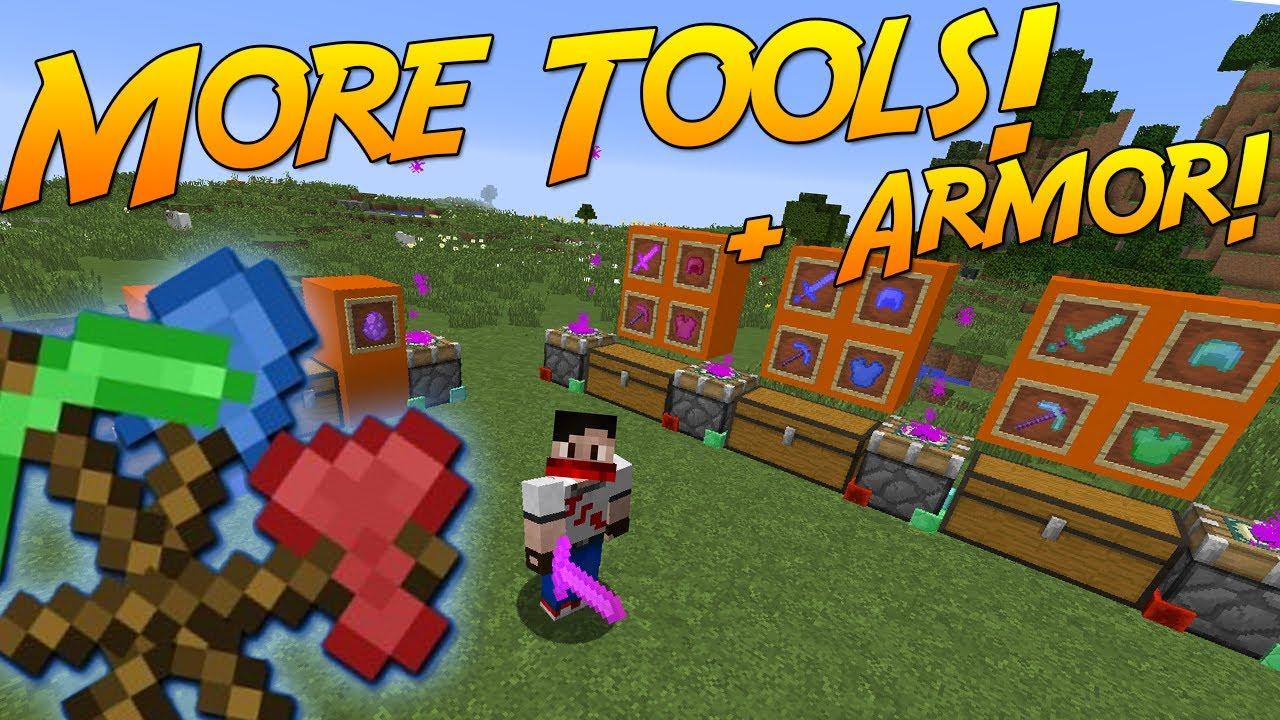 MORE TOOLS & ARMOR! [Minecraft 1.12] | Mod Showcase! - YouTube