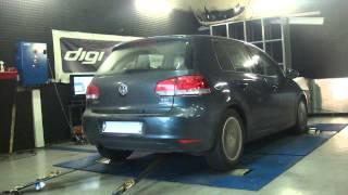 * Reprogrammation Moteur * VW Golf 6 1.6 tdi 105cv @ 147cv Dyno Digiservices Paris