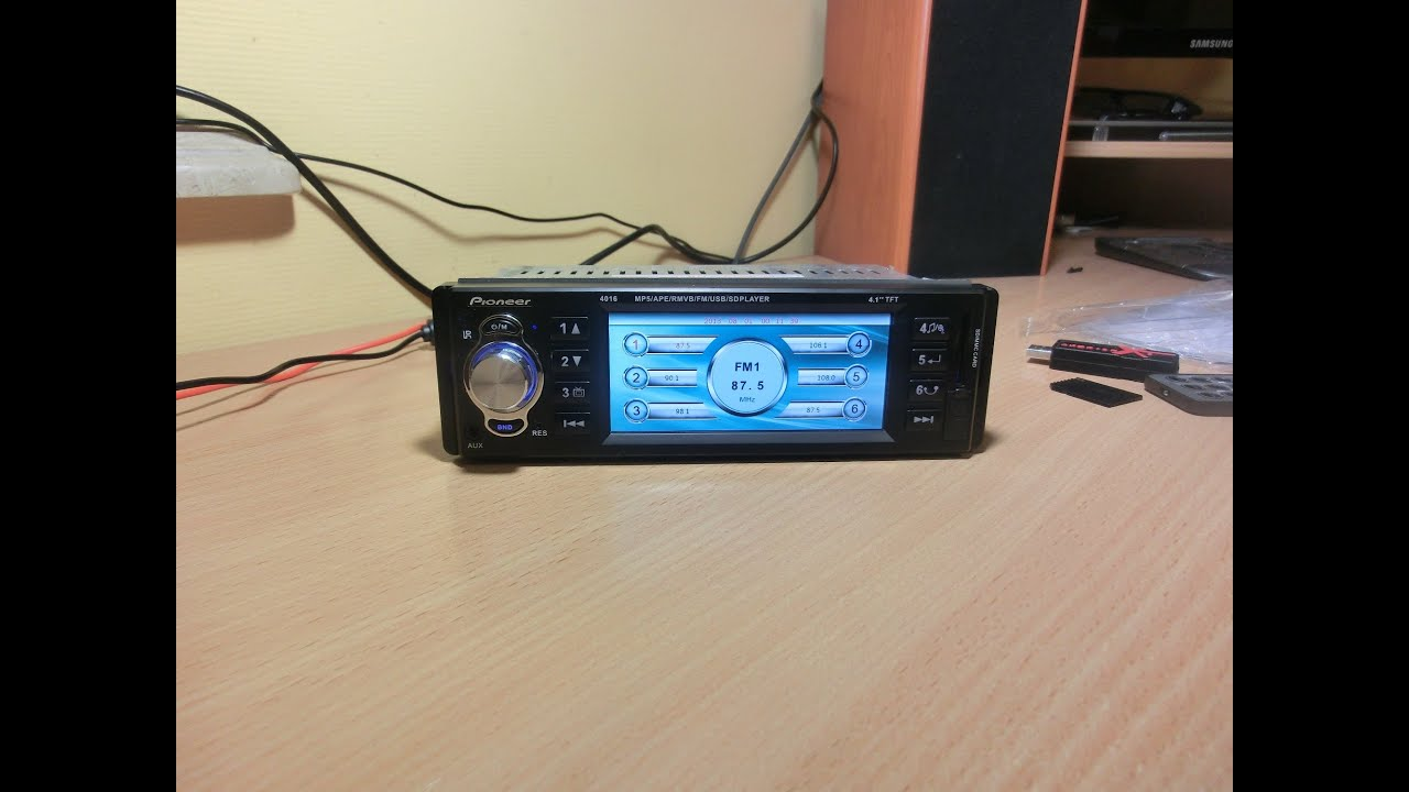 Обзор Автомагнитолы Pioneer 1166 (USB+SD+AUX) - YouTube