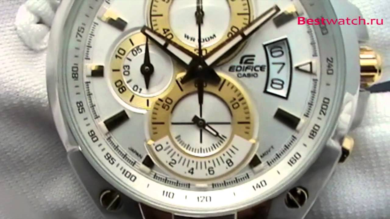 e9afdc49b3e7 Обзор мужских часов Casio Edifice EF-555SG-7A - YouTube