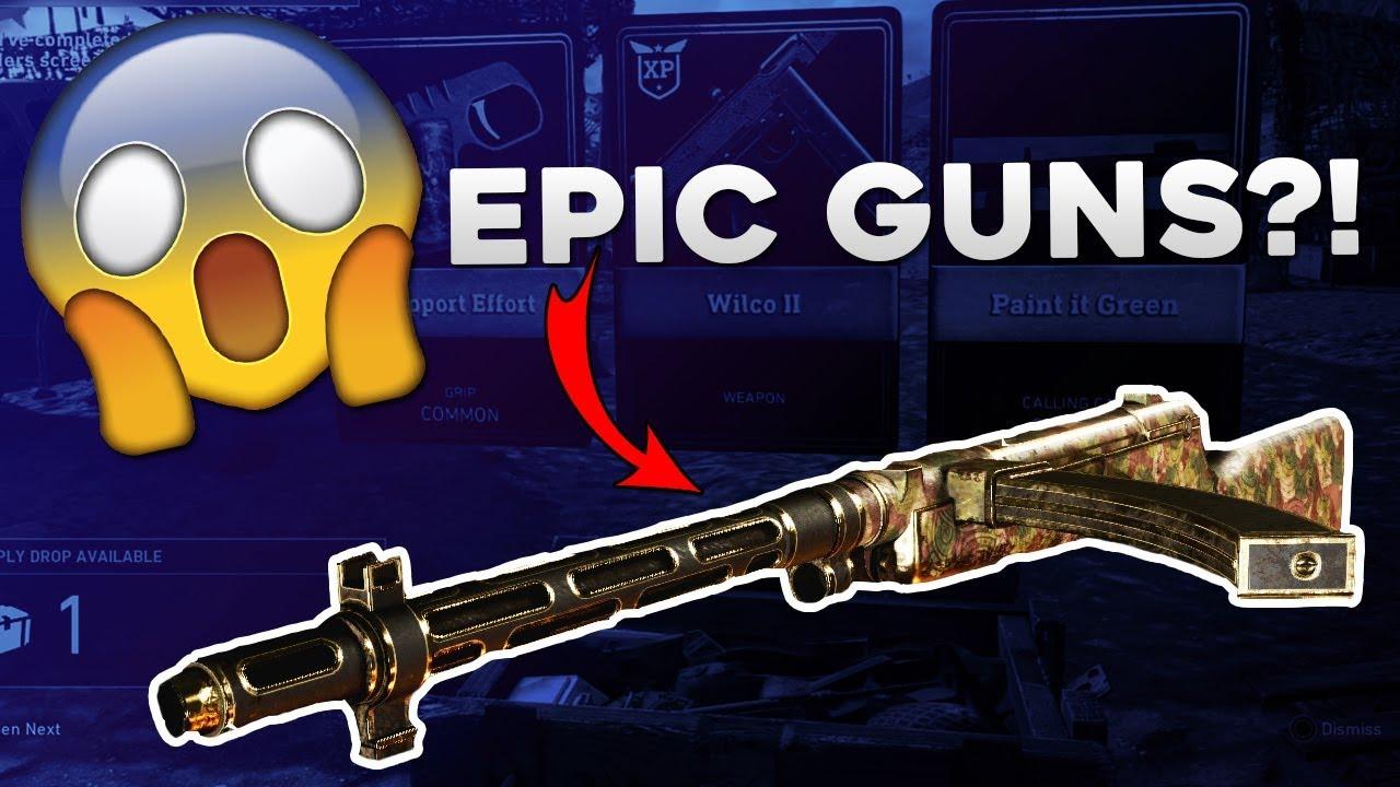 cod ww2 epic weapons
