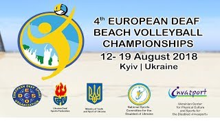 4th European Deaf Beach Volleyball Championships   Playoff   Day #4   Court #1 thumbnail