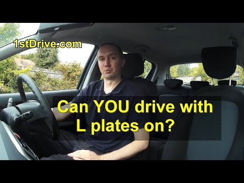 Can a full driving licence holder drive a car with L plates on?