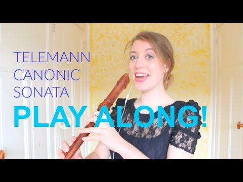 PLAY ALONG! Telemann Canonic sonata nr. 1 | Team Recorder