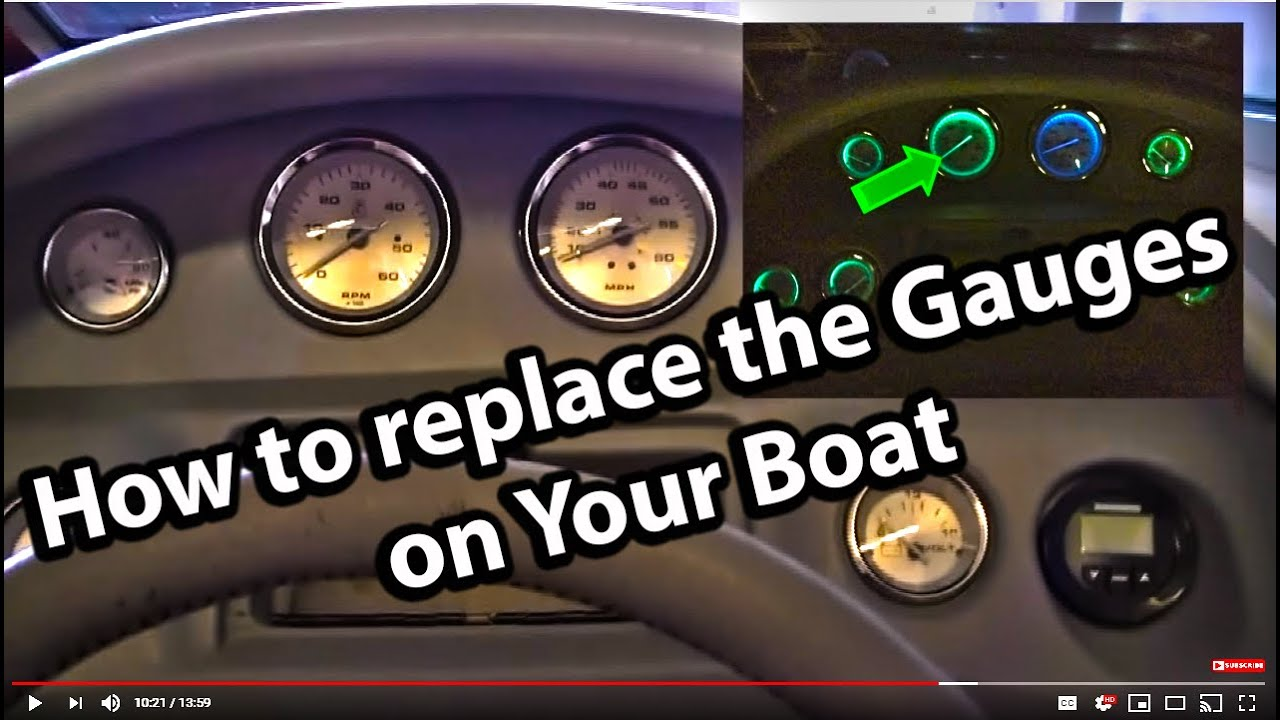 How to Replace the Gauges in your boat  YouTube