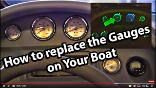 How to Replace the Gauges in your boat