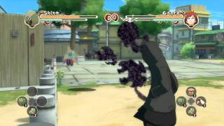 Naruto Ultimate Ninja Storm 2: Shino vs Gaara