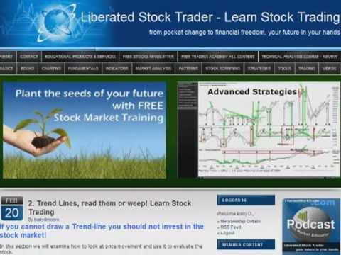 Stock Charts, Drawing Trend Lines, Live Stock Market Seminar