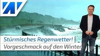 Jetzt kommt unser Winterwetter: Sturm, Regen und Wärme!