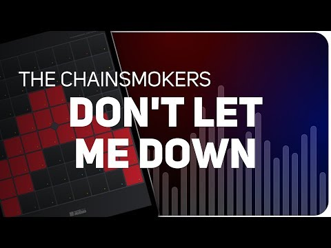 Playing DON'T LET ME DOWN | The Chainsmokers on SUPER PADS LIGHTS - Launchpad - KIT SUNSET