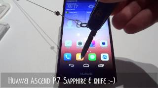 Huawei Ascend P7 Sapphire & knife :-)