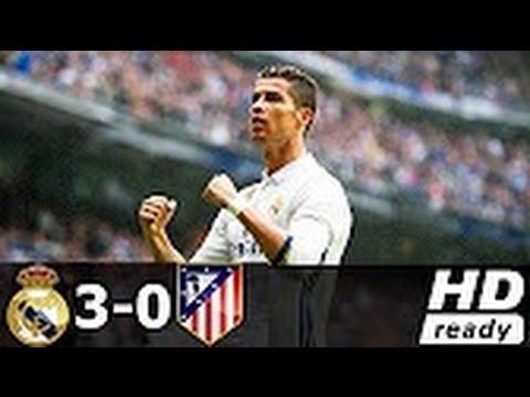 Hat trick CRISTIANO Ronaldo vs Atlético Madrid  3-0 / Champions League 2017 - Cámara Exclusiva -