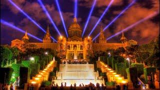 4К Поющие фонтаны Барселоны