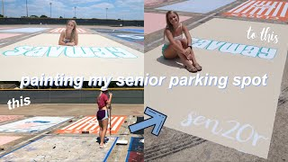 senior parking spot vlog | class of 2020