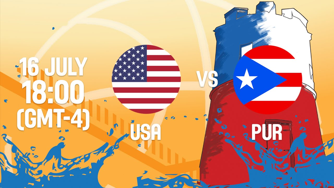United States v Puerto Rico - Full Game - Semi-Final 1
